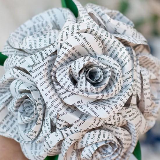 Свадебные букеты из бумаги