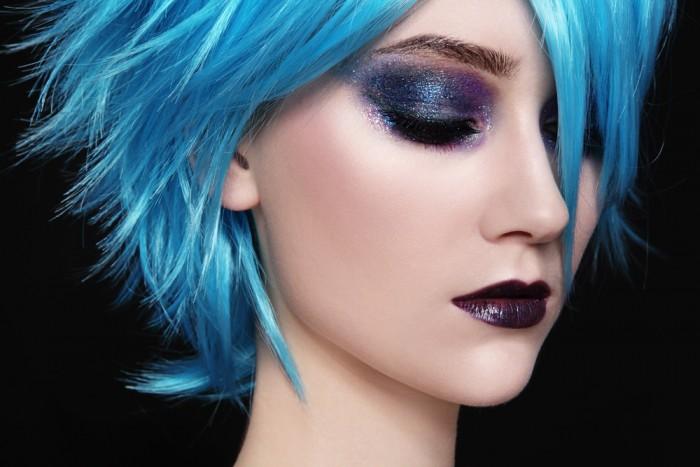 девушка - Цветное окрашивание волос