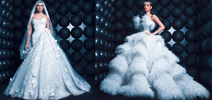 Необычный свадебный фасон от Nicolas Jebran 2