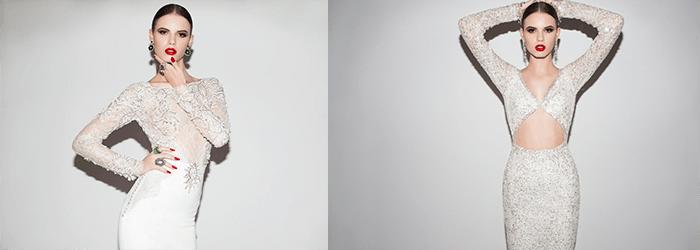 Рукав, расшитый бисером и кристаллами Elihav Sasson