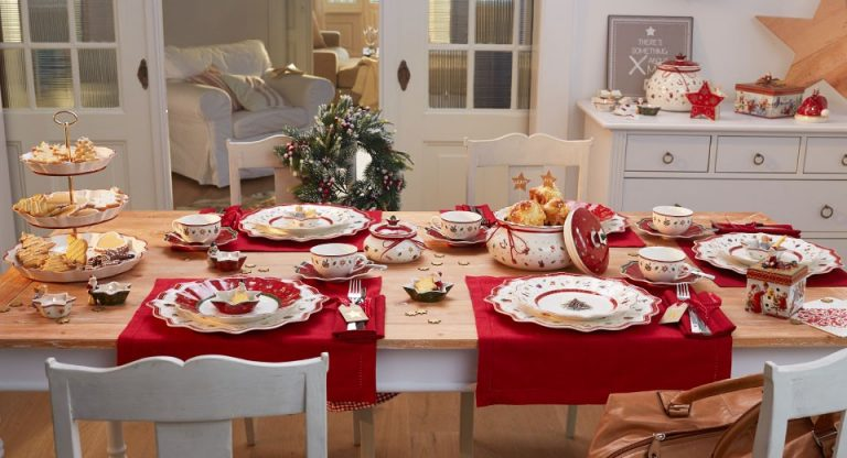 Рождественские коллекции брендовой столовой посуды