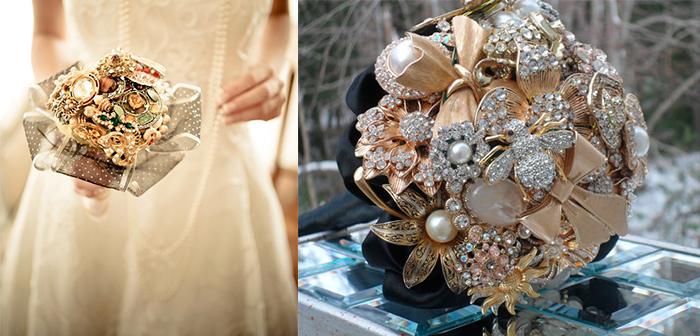 Свадебный букет из драгоценностей