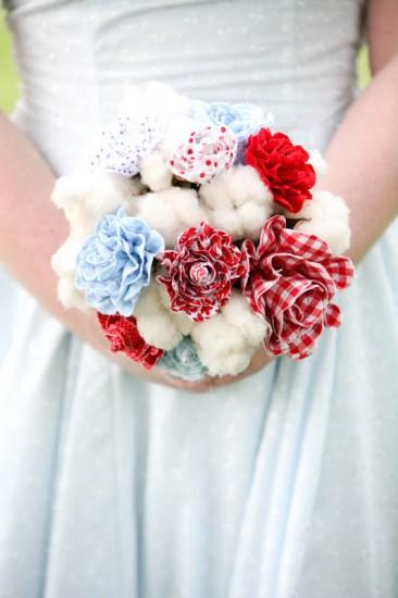 Свадебные букеты из ткани