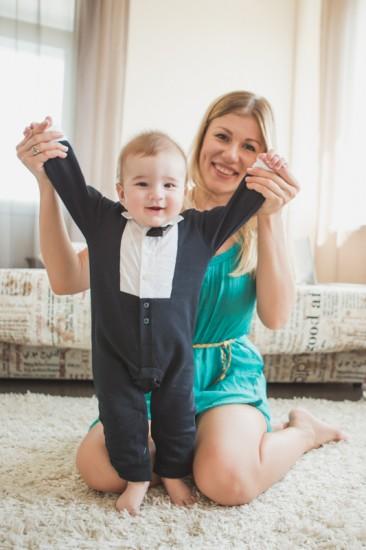 Алена и сын Тимур