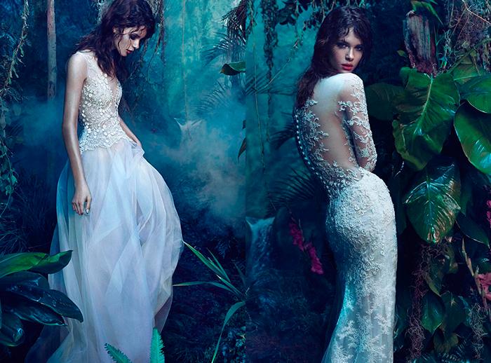 Утонченные прямые свадебные платья Reem Acra