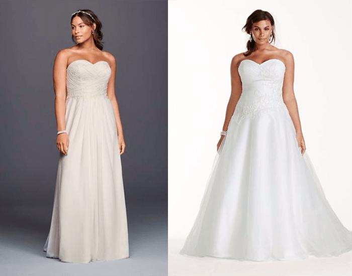 Платья с открытыми плечами David′s Bridal