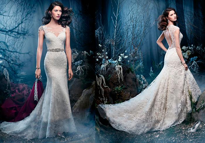 свадебное платье-русалка Kenneth Winston