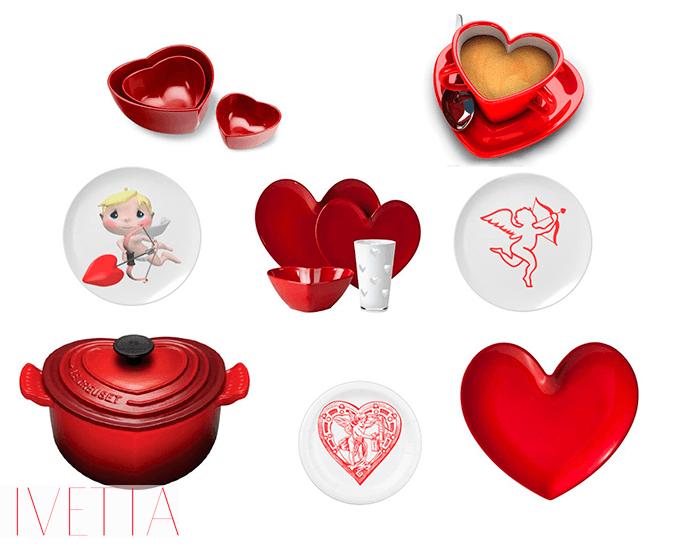 «Влюбленная» посуда