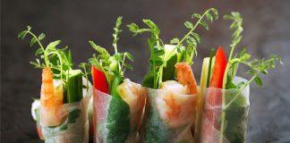 Великий пост рецепт спринг-роллов с болгарским перцем и микрогрином