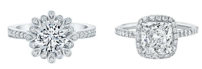 Кольца для помолвки из белого золота
