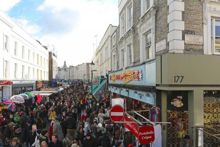 Portobello Road Market (Лондон, Великобритания)