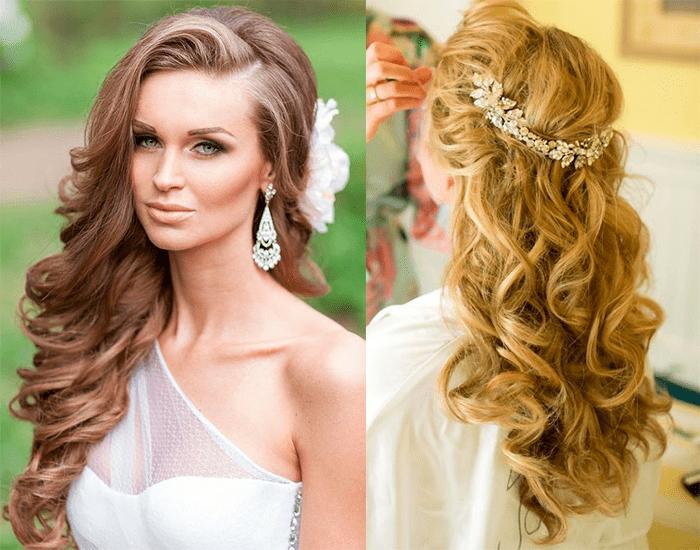 Распущенные волосы прическа невесты