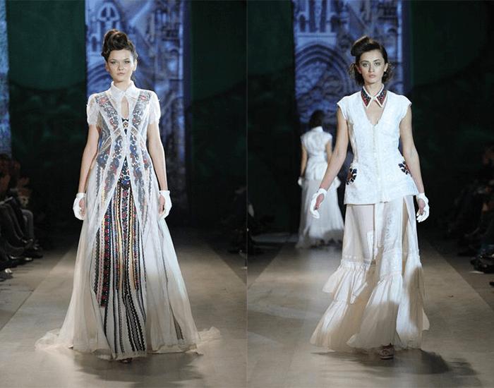 свадебные платья с вышивкой от Roksolana Bogutska