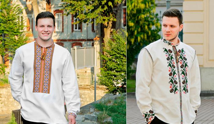 варианты мужских вишиванок для женихов от бренда Oleshchuk