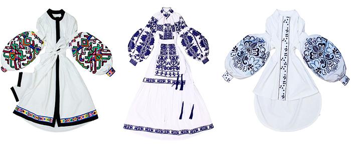 Современные вышитые платья для невест от Юлии Магдыч