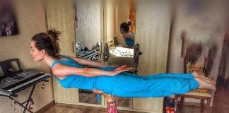 Певица Эрика впечатляет своими достижениями в йоге