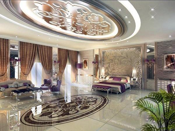 Спальни в стиле глэм-шик