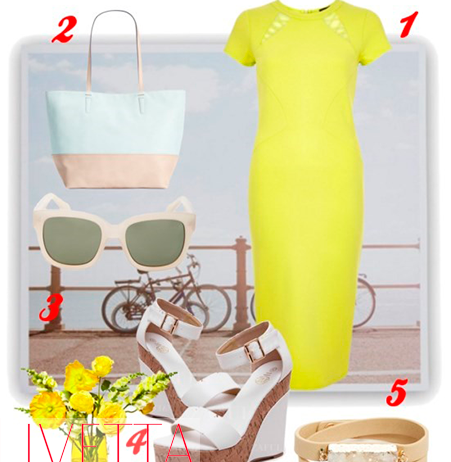 Оденься, как звезда: желтое платье-карандаш Риз Уизерспун
