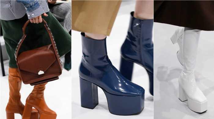 Обувь на массивной платформе