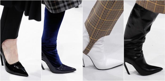 Обувь с узким носом