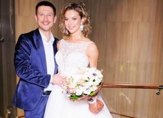 Актер Дмитрий Ступка и телеведущая Полина Логунова