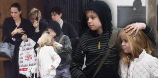 Анджелина Джоли и ее дочери на шопинге в Лондоне