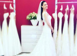 Телеведущая Маша Ефросининав свадебном платье