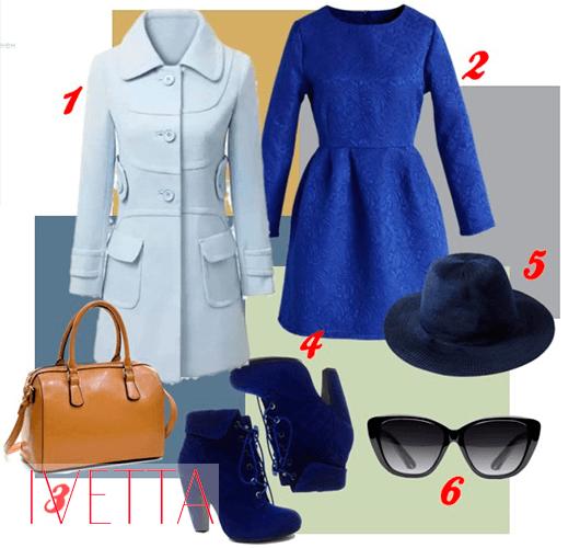 Оденься голубое пальто Люпиты Нионго