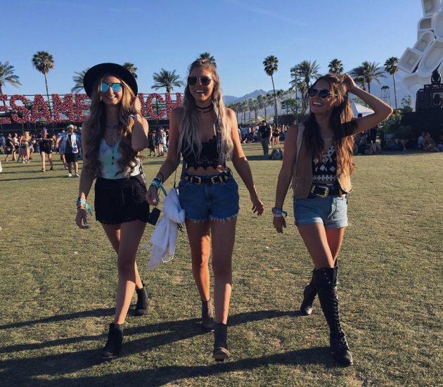 Модели на фестивале Coachella 2016