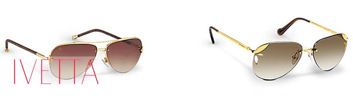 Солнцезащитные очки авиаторы с золотыми дужками