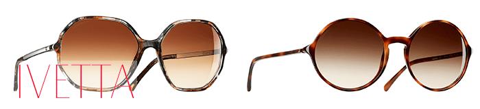 Двое очки геометричных форм