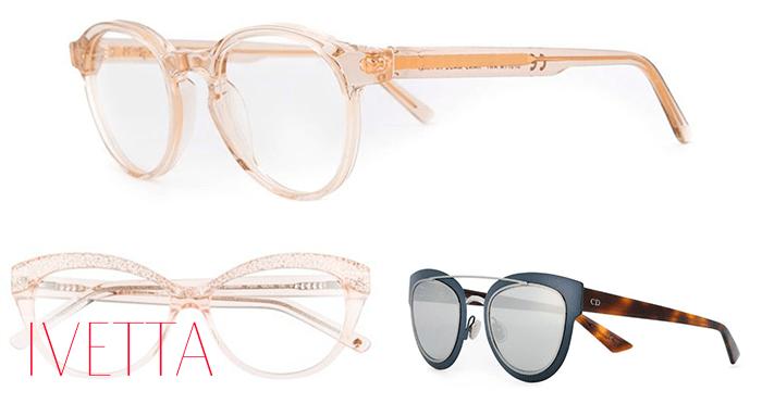 Модные очки с прозрачными линзами