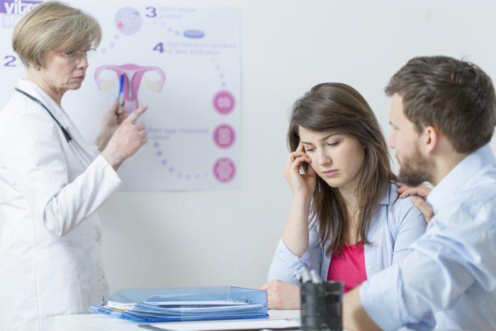 Парень с девушкой у врача гинеколога