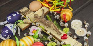 Пасхальные яйца, цветы и Крес