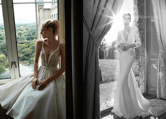 Свадебные платья с v-образным вырезом от Inbal Dror