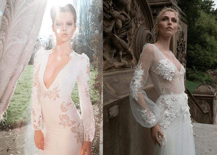 Свадебные платья с глубоким декольте от Inbal Dror