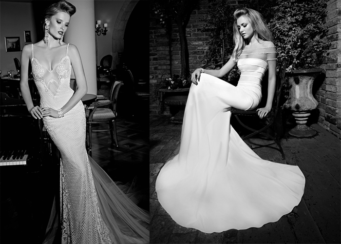 Свадебные платья-русалки с открытым декольте от Galia Lahav