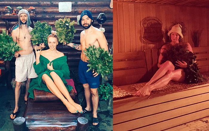 Оля Полякова и Анастасия Волочкова