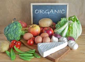 Органические продукты:сыр,яйца,овощи,горох,яблоки