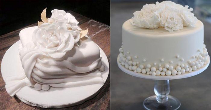 2 белых свадебных торта
