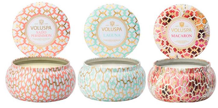 3 декоративные свечи в коробочках MAISON METALLO CANDLE
