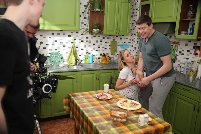 Алексеей Тритенко на съемках сериала