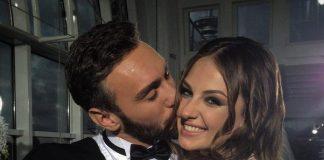 Иракли Макацария целуют в щеку Алену Лесик