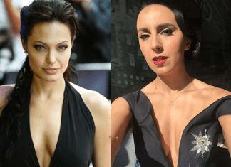 Джамала и Анджелина Джоли в черных платьях с декольте