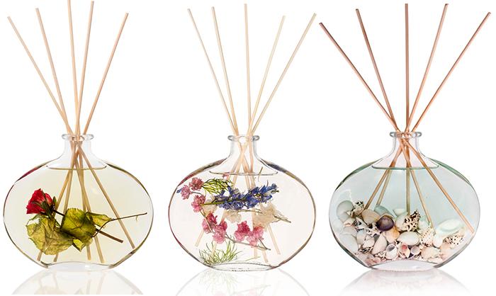 Ароматические палочки в круглых подставках с цветами и камешками