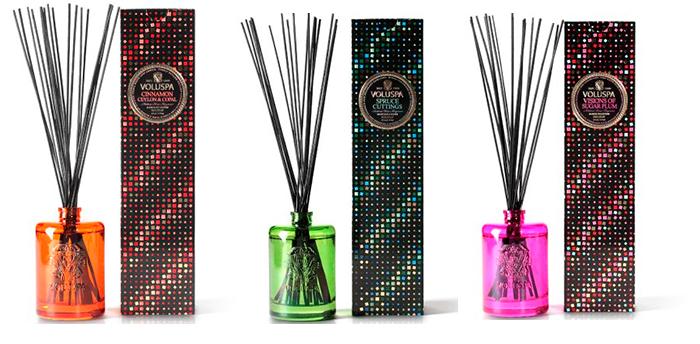 Ароматические палочки в стеклянных цветных подставках
