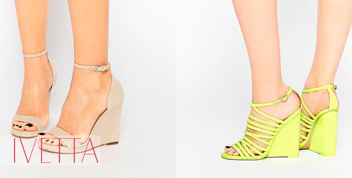 Босоножки на женских ножках на платформе