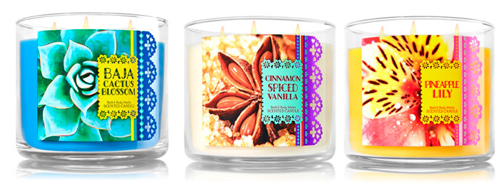 3 декоративные свечи 3-Wick Candle
