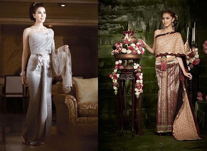 Девушки в свадебных платьях пастельных оттенков, в тайском стиле