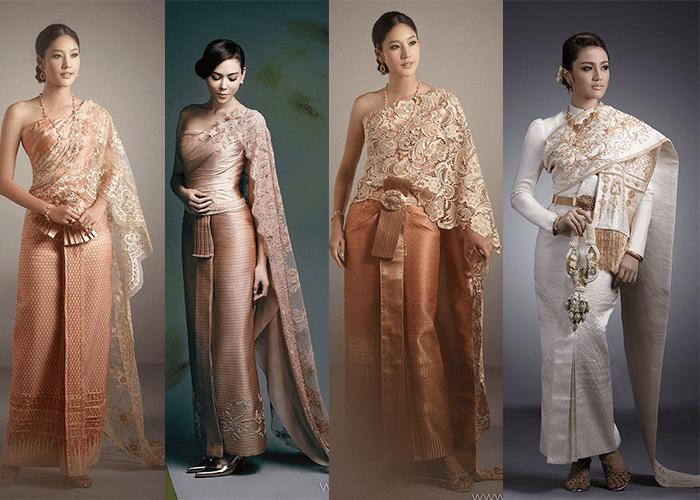 Девушки в свадебных платьях в тайском стиле